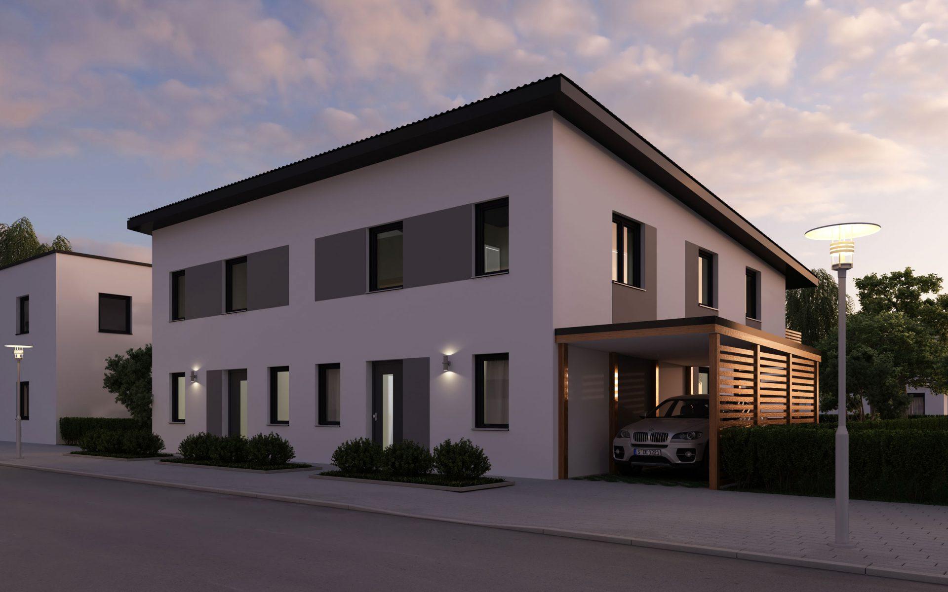 3D Visualisierung Doppelhaus