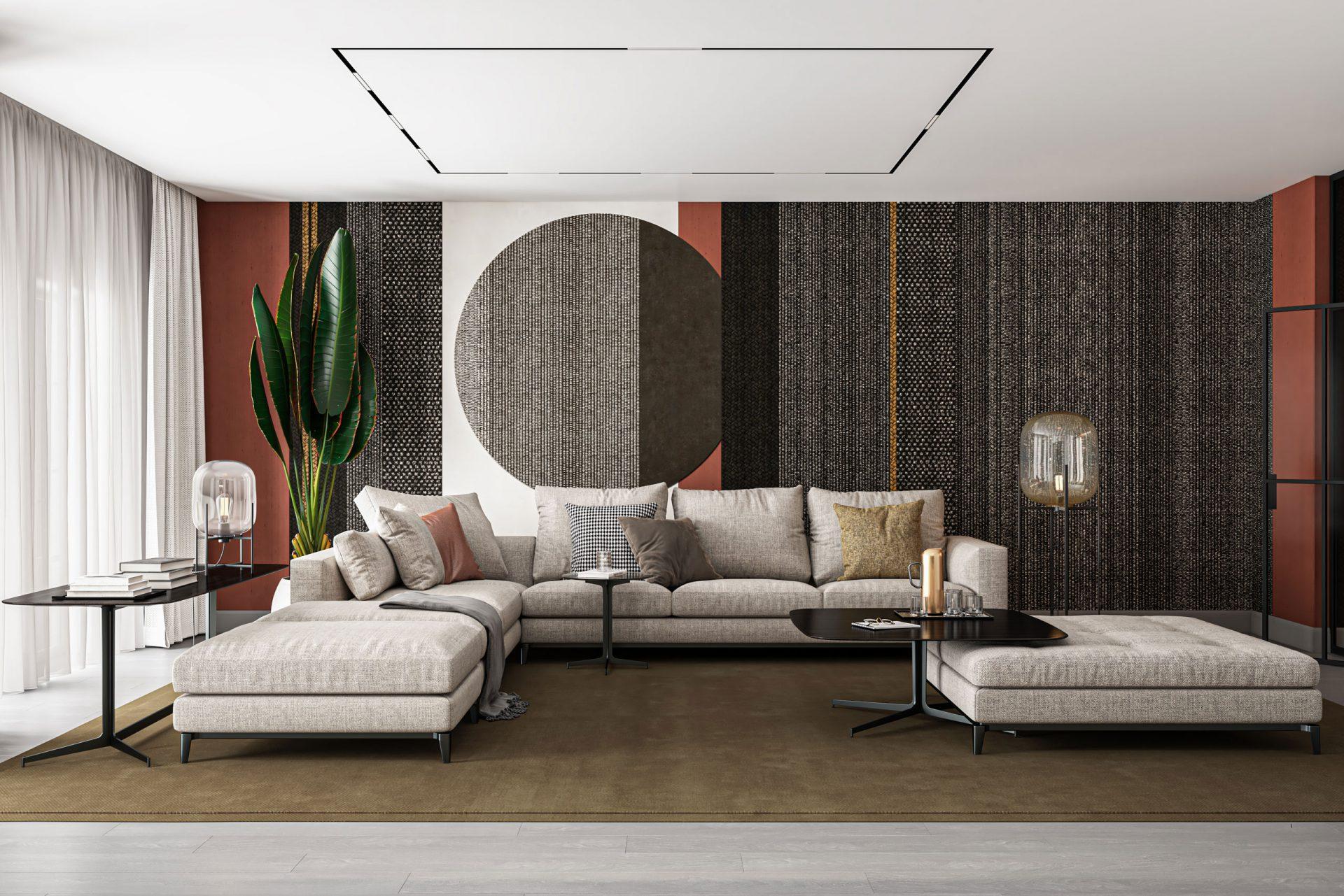 3D Visualisierung Wohnzimmer