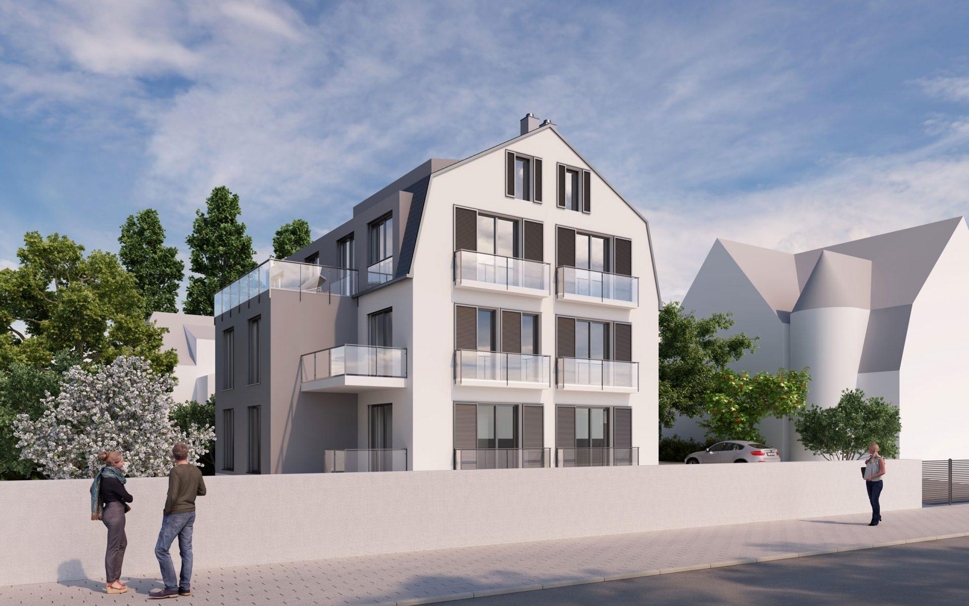 3D Architekturvisualisierung Mehrfamilienhaus