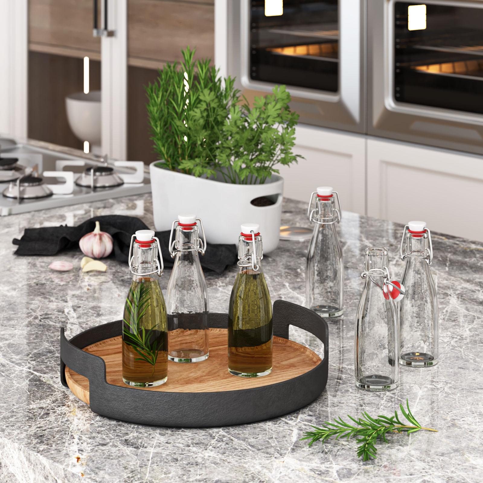 Glasflasche Küche 3D Produkt Visualisierung