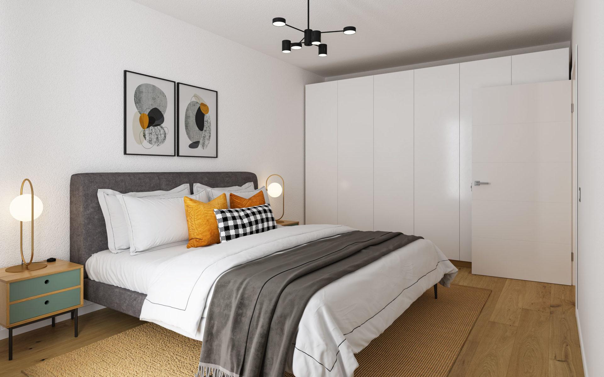Schlafzimmer 3D Visualisierung Innenraum