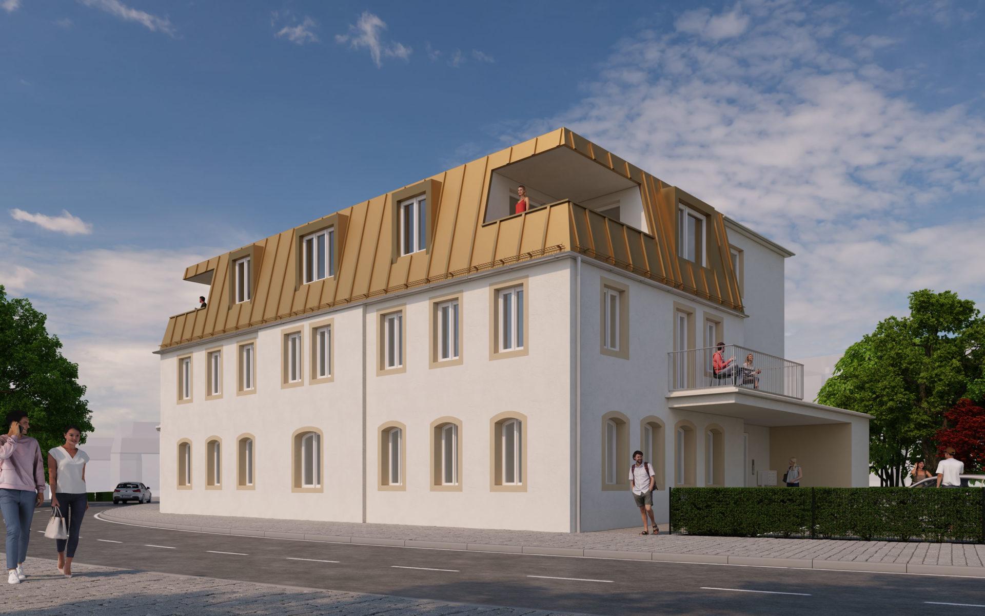 Mehrfamilienhaus 3D Visualisierung